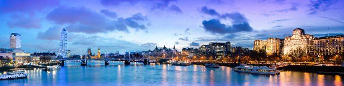De Theems in Londen bij nacht