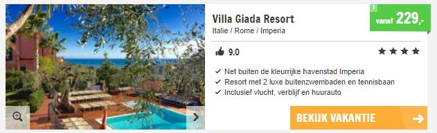 vakantie Italiaanse riviera