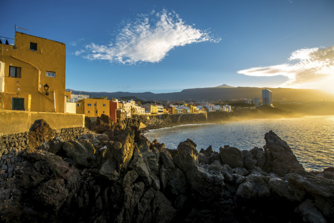 Punta Brava town on Tenerife island