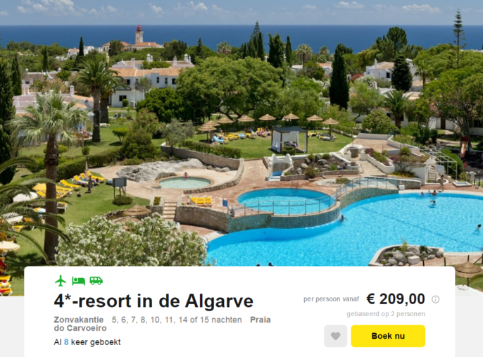 Vakantie in de Algarve in Portugal