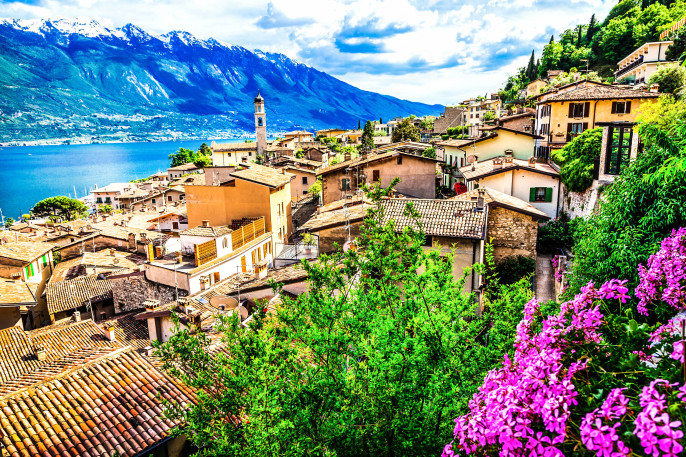 Limone – beautiful town in Lago di Garda, Italy north
