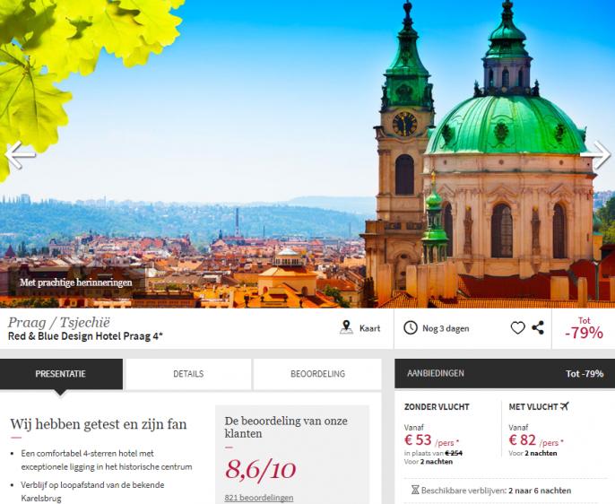 goedkope stedentrip Praag