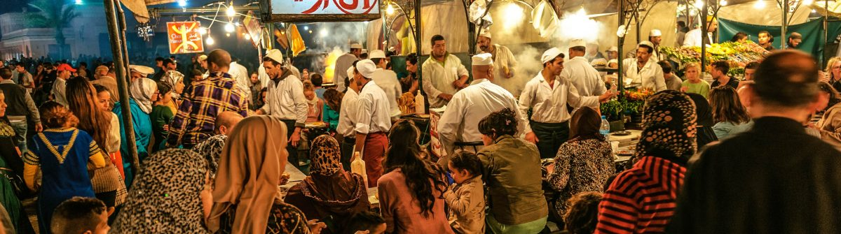 Marrakech, Djemma El Fan Square, Night Street Market, Morocco iStock_000078842143_Large-2