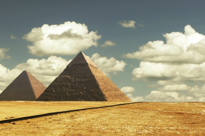 Egipt panorama pyramid with high resolution