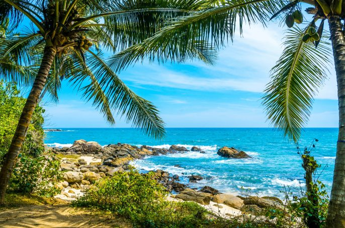 Tropical beach in Sri Lanka iStock_000040019332_Large-2