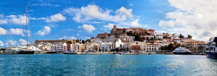 Panorama of Ibiza, Spain