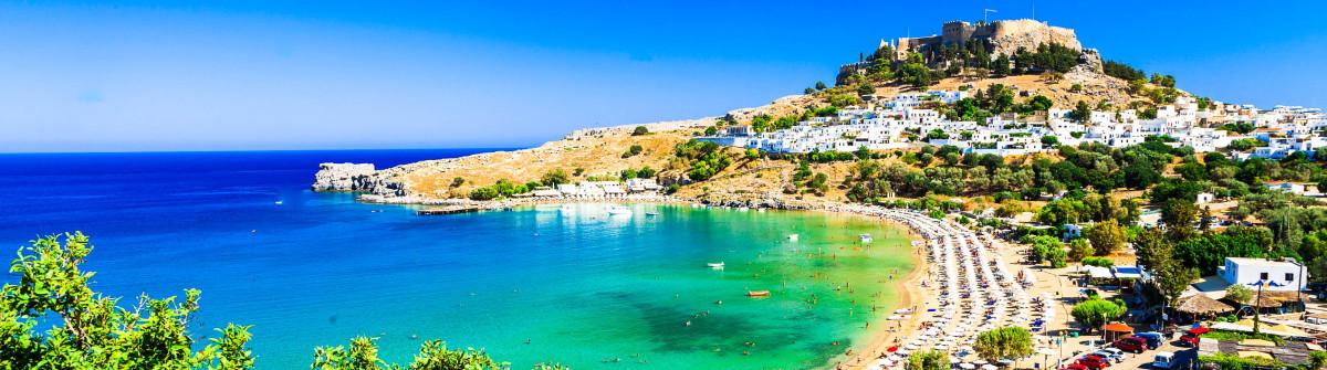 Rhodes island, Lindos beach . Greece