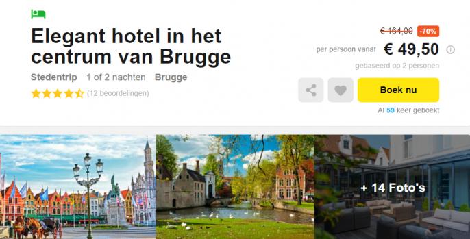 aanbieding hotel Brugge