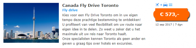 fly and drive toronto