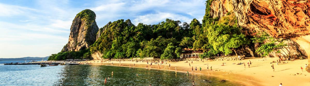 Thailand, Krabi. Phra Nang beach and cave.