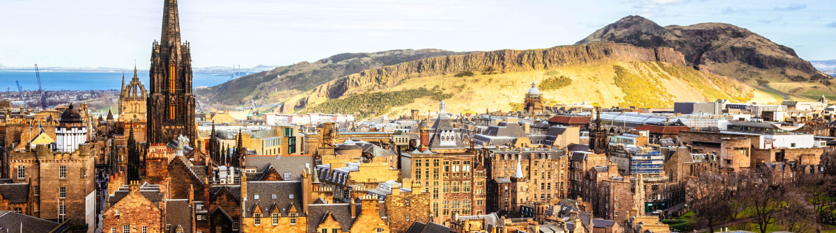 Looking Over Edinburgh Old Town To Arthurs Seat iStock_000060216932_Large-2