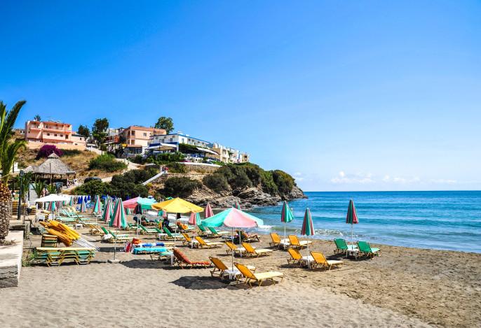 Sandy beach at Bali in Crete, Greece