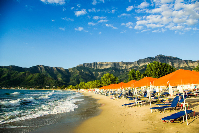 Golden beach, Thassos Island, Greece iStock_000038747838_Large-2