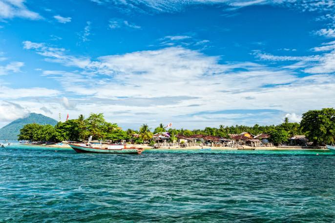 Bunaken indonesian fisherman village in Sulawesi Island