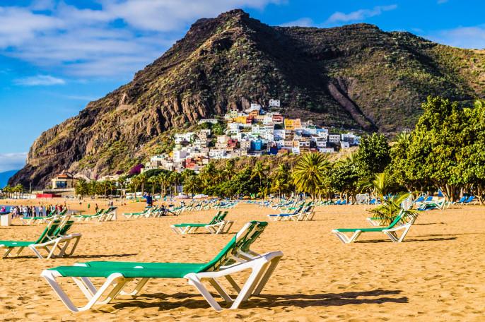 Playa de las Teresitas beach and San Andres village, Tenerife