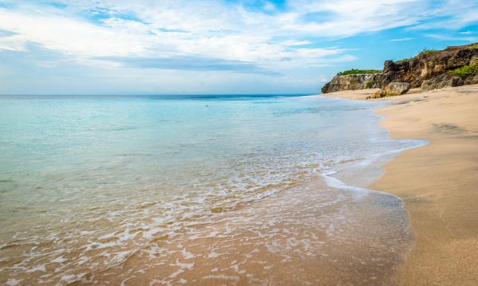 Beautiful beach Dreamland beach, Bali.