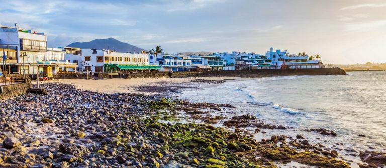 promenade of scenic Playa Blanca
