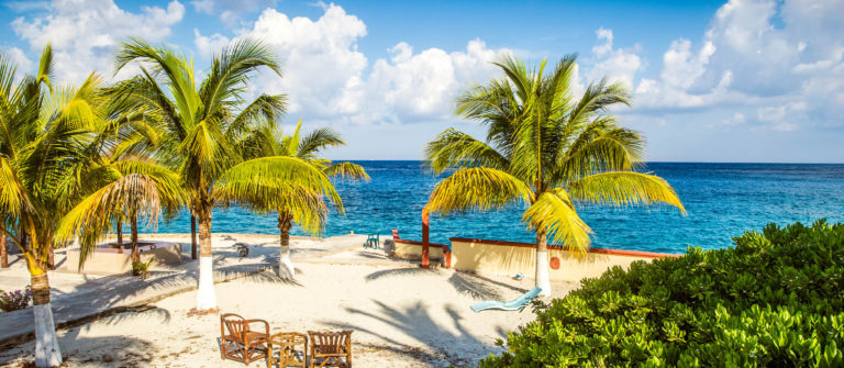 Coast of Cozumel island, Mexico