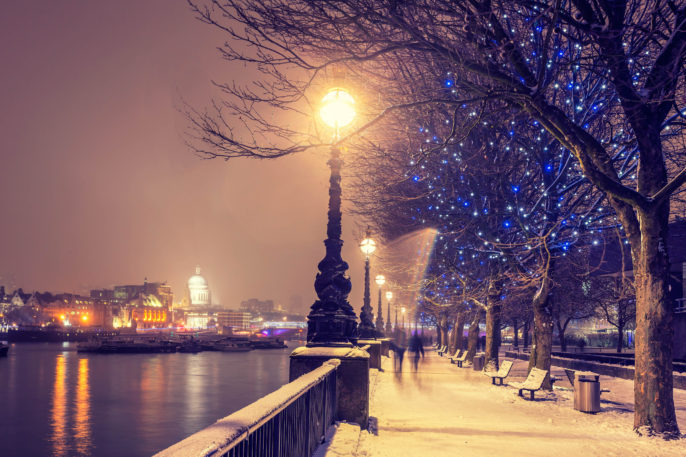 Snowy Christmas in London