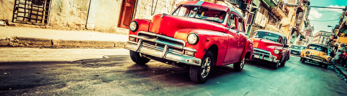 Vintage Car on Havana street, Cuba