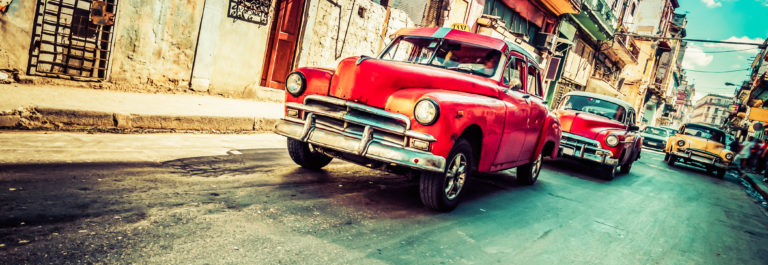 Vintage Car on Havana street, Cuba