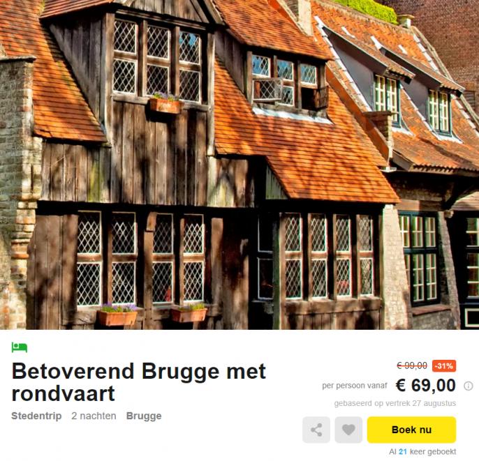 stedentrip Brugge rondvaart