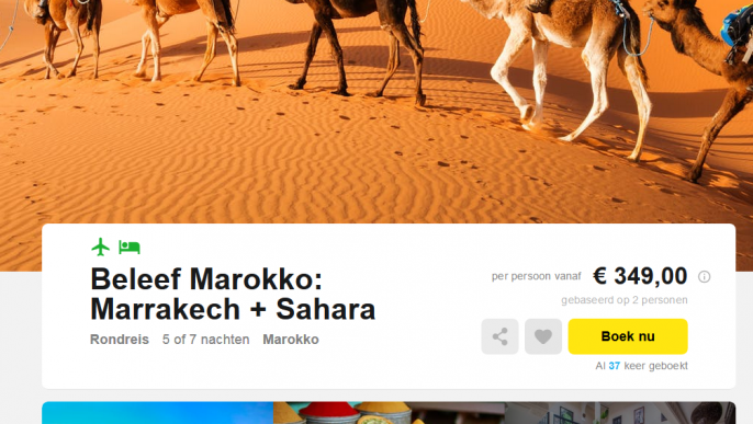 Screenshot Marokko rondreis