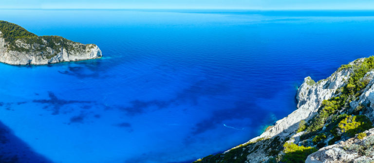 Navagio beach panorama (Zakynthos, Greece)