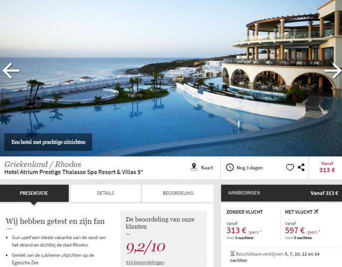 luxe vakantie Rhodos