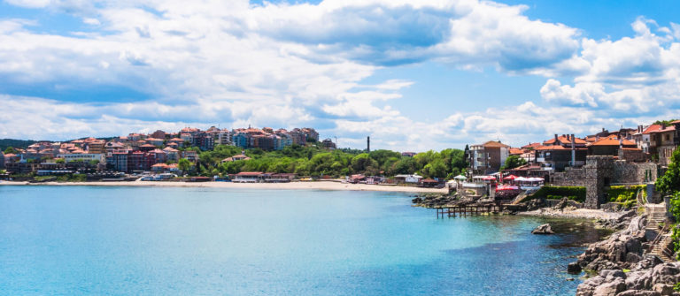 urban beach in Sozopol town, Bulgaria