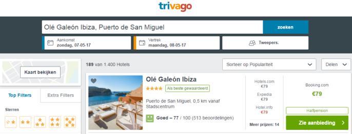 hotel op Ibiza