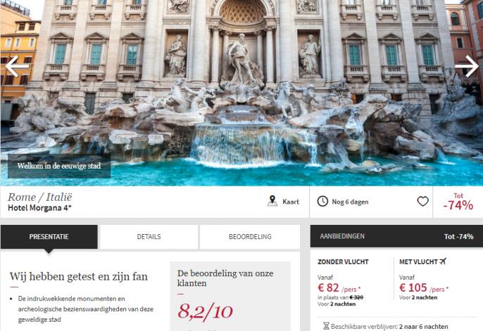 stedentrip Rome hotel Morgana
