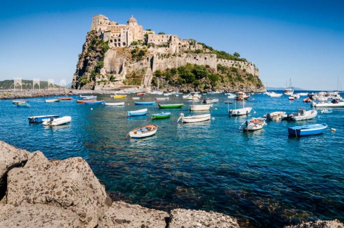 Aragonese castle in Ischia