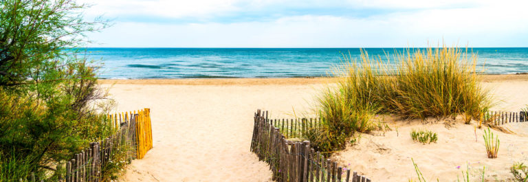 Beach near Montpellier (France)