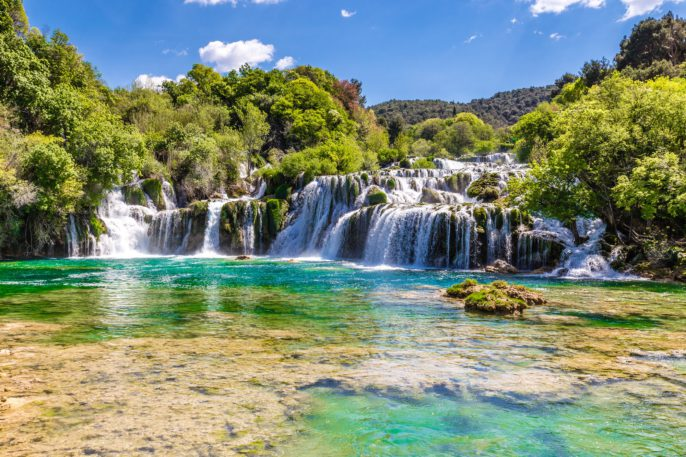 Beautiful Skradinski Buk Waterfall In Krka National Park – Dalmatia Croatia, Europe_shutterstock_400464775