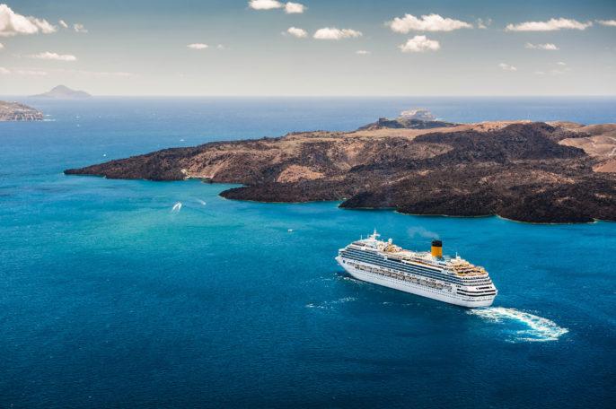 Cruise ship near the Greek Islands shutterstock_203053906-2