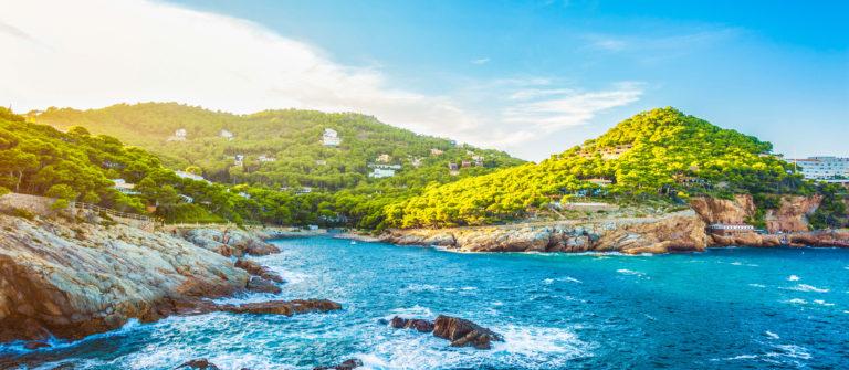 Rocky coastline of Costa Brava (Sa Tuna village, Catalonia, Spain)