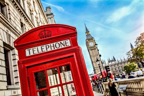Telefooncel in Londen