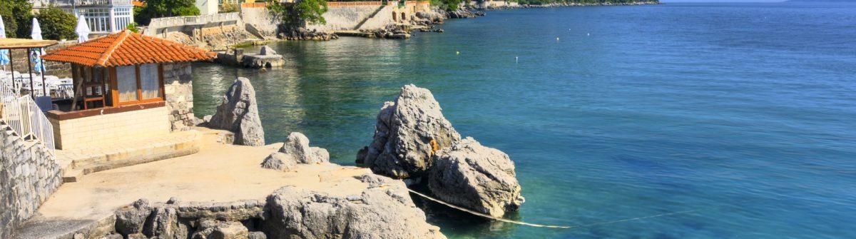 beach in Lovran, Croatia_shutterstock_57400552