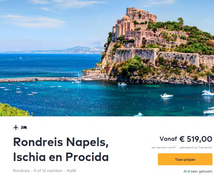 Screenshot van de Ischia rondreis
