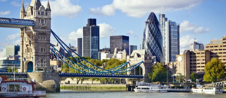 Financial District of London and the Tower Bridge_shutterstock_92655643