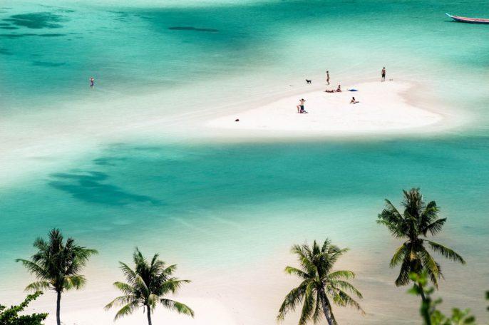 Heart shape sandbank – Thailand