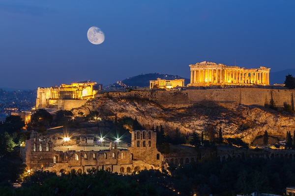 Het Parthenon in Athene