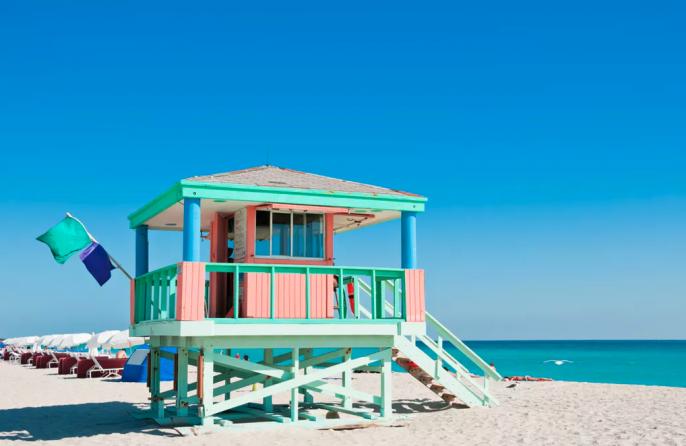 Het strand van Florida