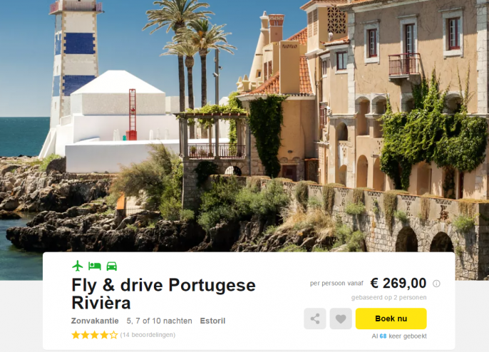 fly drive portugal