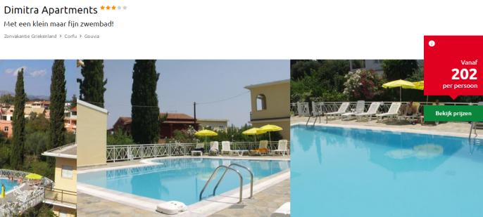 appartement vakantie Corfu