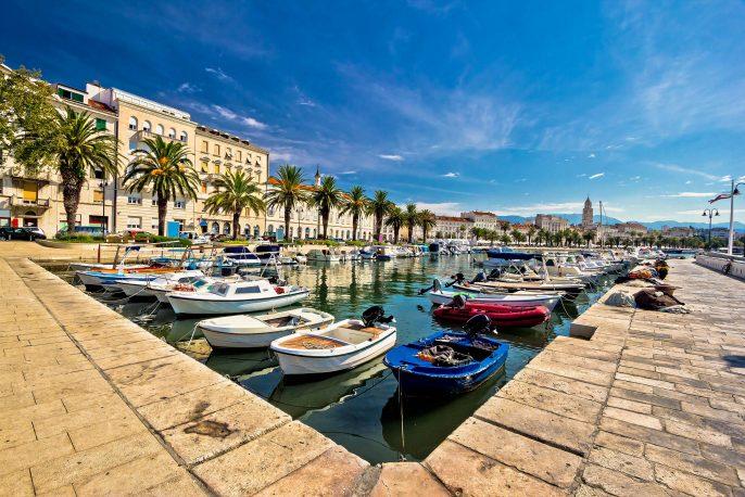 Adriatic city of Split seafront view, tourist destination in Croatia, Dalmatia shutterstock_217658758-2