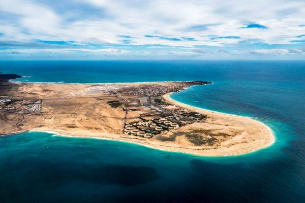 Uitzicht over Kaapverdië