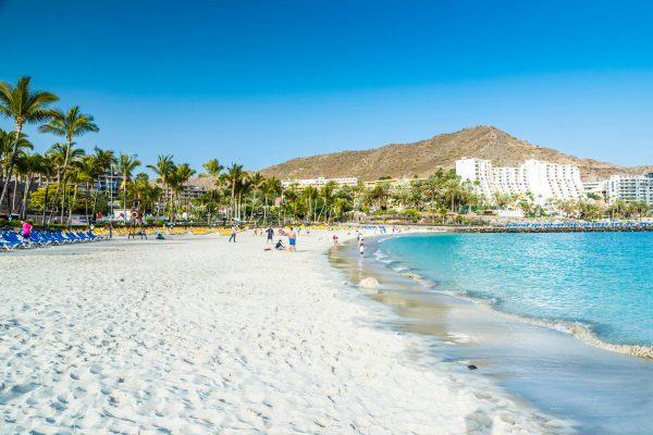 Wit strand op Gran Canaria