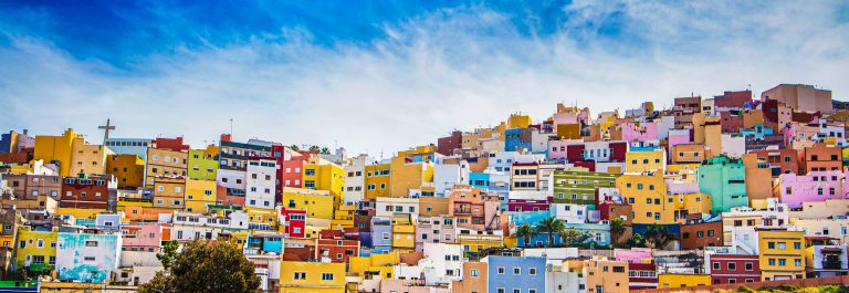 Kleurrijke huizen op Gran Canaria
